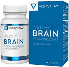 Youthful Brain Memory & Brain Health Supplement - Doctor Formulated Brain Booster with Bacopa Monnieri, Ginkgo Biloba, - Easy to Swallow Tablets - Supply Count) Brain Boosting Foods, Best Nootropics, Brain Memory, Brain Supplements, Enhancement Pills, Brain Activities, Skin Care Treatments, Brain Health, Mindfulness
