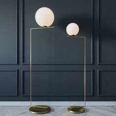 I'm amazed by this lamp design and style. It matches so nicely with the neighboring design Interior Walls, Home Interior Design, Interior Styling, Gold Interior, Diy Floor Lamp, Modern Floor Lamps, Flos Lamp, Basement Lighting, Wall Molding