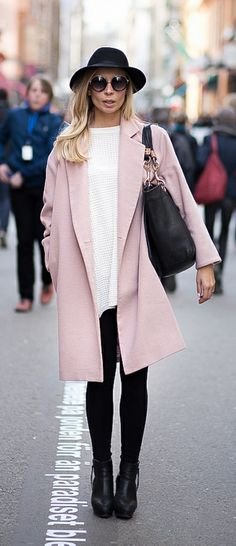 pink coat | Winter | Pinterest | Coats, Pink stuff and Street styles