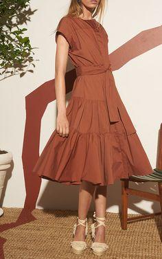 Ray Stretch Poplin Dress by WHIT for Preorder on Moda Operandi