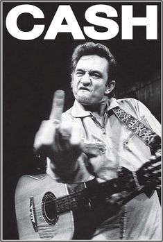 Cash Poster The infamous Johnny Cash flippin the bird - Black & White - Measures: x - Comes RolledThe infamous Johnny Cash flippin the bird - Black & White - Measures: x - Comes Rolled Johnny Cash Poster, Johnny Cash Tattoo, Johnny Cash Albums, Johnny Cash Quotes, Papa Roach, Breaking Benjamin, Garth Brooks, Johnny Cash Birthday, June And Johnny Cash
