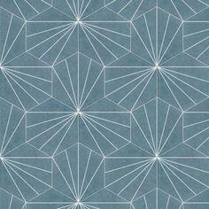 Tile Projects, Dark Blue Color, Blue Square, Hexagon Shape, Grey Stone, Mid Century Modern Design, Wall Patterns, Stone Tiles, Porcelain Tile