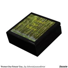 Shop 'Protect Our Future' Customizable Gift Box created by JohnnieLawsonArtist. Customizable Gifts, Keepsake Boxes, Encouragement, Decorative Boxes, Future, Products, Future Tense, Decorative Storage Boxes, Gadget