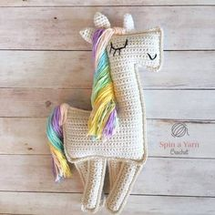 We found another amazingly adorable Unicorn Pattern. This Crochet pattern is for a Ragdoll (flat) style unicorn. These flat dolls or rag dolls are perfect for displaying on walls or using as cushions.