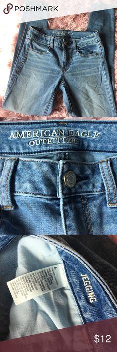 American Eagle women jeans jeggings size 6 skinny American Eagle women's jeggings jeans skinny jeans size 6 American Eagle Outfitters Jeans Skinny