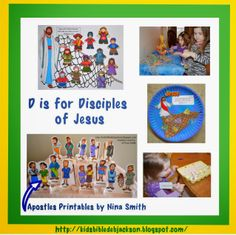 Preschool Alphabet: D is for Disciples