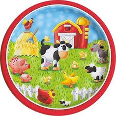 Plates - Farm Animals Dinner
