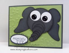 Elephant Birthday by Speedystamper - Cards and Paper Crafts at Splitcoaststampers