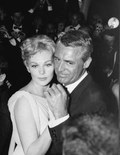 Kim Novak and Cary Grant dance at Cannes Film Festival after the screening of Middle of the Night in 1959.