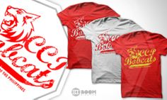 *CLIENT: BOOM CREATIVE  *PROJECT:  CENTRAL COLLEGES OF THE PHILIPPINES (CCP BOBCATS SHIRT) *ARTIST: EDWARD ESTACIO