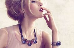 Costume jewelry with Swarovski crystals Spring / Summer 2013: Crystallized