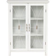 "Veranda Bay White Floor Cabinet 34""H x 26""W x 12.5""D  Overstock.com"