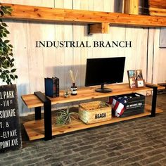 Television Stands, Flat Screen, Industrial, Desk, Wood, Furniture, Google, Home Decor, Life