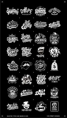 Recent selected types and images in B/W by Oleg Gontarev, via Behance
