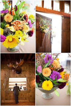Fall wedding decor. Photo by Watson Studios