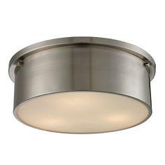 Elk Lighting Simpson Brushed Nickel Flushmount Light | 11821/3 | Destination Lighting