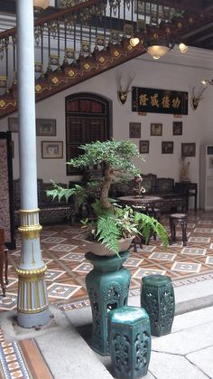 inside the Blue Mansion - Cheong Fatt Tze Mansion - in George Town, Penang