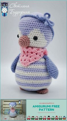I share the Amigurumi Penguin Baby pattern. your children will want to enlarge to natural organic toys Christmas Crochet Patterns, Crochet Animal Patterns, Crochet Doily Patterns, Stuffed Animal Patterns, Baby Patterns, Doll Patterns, Crochet Penguin, Crochet Animal Amigurumi, Easter Crochet