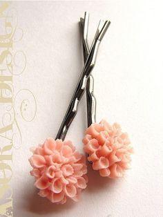 Rose Gardenia épingles à cheveux épingles à cheveux par soradesigns
