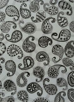 Paisley play, made by Francine Derks Zentangle Drawings, Zentangle Patterns, Small Drawings, Cool Drawings, Circle Doodles, Sketch Ideas, Embroidery Patterns Free, Zen Doodle, Diy Canvas