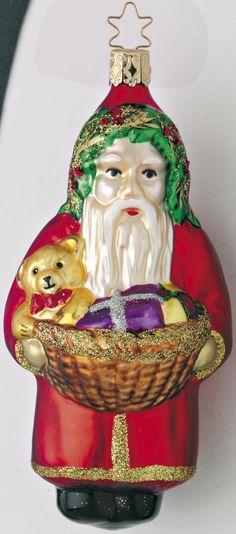Inge Glas 2005 #Christbaumschmuck#Weihnachtsmann# aus dem Hause Inge Glas.Weihnachtsbaumschmuck made in Germany mundgeblasen und von Hand bemalt bei www.gartenschaetz...