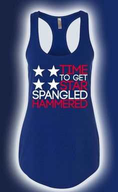 Star Spangled Hammered Womens