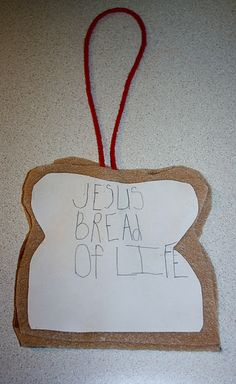 I Am The Bread Of Life craft John 6:48. ?Maybe have a picture of Jesus on front? *OR bring on a toaster & have kids make help make toast for a snack? OR mix together a bread recipe to be given out later that week after I bake it that night?