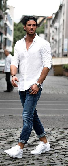 d2471510bec andre merzdorf White Shirt look Casual Street Style