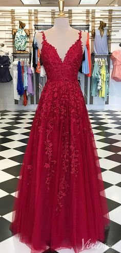 Red Appliques Lace Long A-line Tulle Prom Dresses, Shop plus-sized prom dresses for curvy figures and plus-size party dresses. Ball gowns for prom in plus sizes and short plus-sized prom dresses for Senior Prom Dresses, Red Wedding Dresses, A Line Prom Dresses, Tulle Prom Dress, Cheap Prom Dresses, Ball Dresses, Formal Dresses, Elegant Dresses, Wedding Kimono