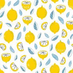 Lemons pattern royalty-free stock vector art