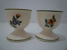 EGG CUPS. Vintage English EGGCUPS. 1940's by JenniferCheriDesigns