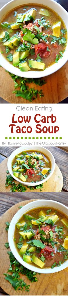 Want an easy, Mexican-inspired dinner tonight? This Clean Eating Slow Cooker Taco Soup is fast to prep and is easily adapted for all taste buds at the dinner table! ~ http://www.thegraciouspantry.com
