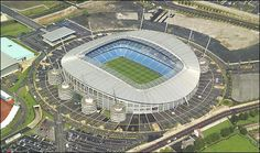 Etihad Stadium - Home of Manchester City. Soccer Stadium, Soccer Fans, Football Stadiums, Etihad Stadium Manchester, Manchester City, Manchester England, Stadium Architecture, Abstract City, Best Football Team
