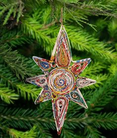 Recycled Magazine Guiding Star Ornament at The Animal Rescue Site
