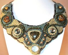 Gorgeous Embroidered Sead Bead Crystal and by ConnollyCollection, $325.00