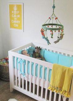 Nursery crib and bedding - I like the simplicity.