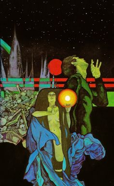 "atomic-chronoscaph: ""The Omega Point - art by Bob Pepper "" Psychedelic Space, 70s Sci Fi Art, Vintage Horror, Wow Art, Science Fiction Art, Retro Futurism, Horror Art, Cover Art, Art Inspo"
