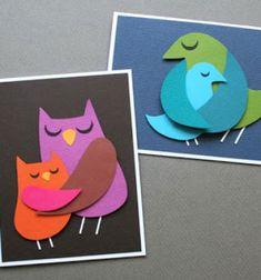 ❤ Szülői szeretet - ölelkező madaras képeslapok  ❤Mindy -  kreatív ötletek és dekorációk minden napra