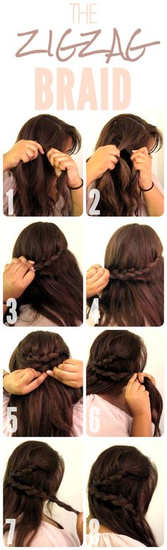 The Zig Zag Braid. Hairstyle. Tutorial. | Kenra Professional Inspiration