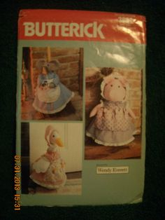 PIG or GOOSE doorstop or broomcover pattern by SewManyLoves, $5.25