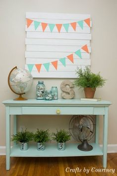 Chalk Paint Makeover: Quick makeover to my sofa table using chalk paint.