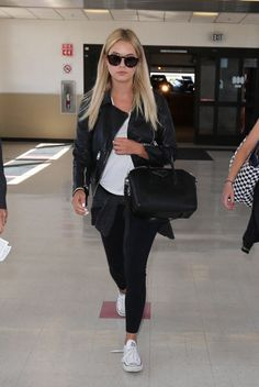 Ashley at LAX on July 22, 2015 in Los Angeles, California.