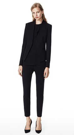 Theory women's suiting with skinny pants