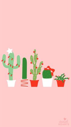 December 2017 Christmas Cactus Calendar Wallpaper - Sarah Hearts Deck your desktop, phone, and tablet with this festive holiday cactus wallpaper. Also available with a December 2017 calendar. Christmas Phone Wallpaper, Calendar Wallpaper, Holiday Wallpaper, Trendy Wallpaper, Christmas Walpaper, Christmas Phone Backgrounds, Christmas Lockscreen, Cactus Backgrounds, Cute Backgrounds
