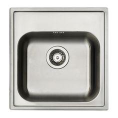 IKEA - BOHOLMEN, Évier à encastrer 1 bac, Garantie 25 ans gratuite. Détails des conditions disponibles en magasin ou sur internet.Évier en acier inoxydable, un matériau hygiénique, solide et résistant, facile à entretenir.Évier non prépercé, pour déterminer librement l'emplacement du robinet.Nous vous conseillons d'utiliser notre outil FIXA en 2 parties pour percer le trou pour le mitigeur. Vendu séparément.