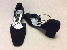 Black Stuart Weitzman Heels with Rhinestones Size 8B | eBay