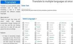 Translatr es una práctica utilidad web gratuita con la que podemos traducir cualquier texto a múltiples idiomas con un solo clic de ratón.