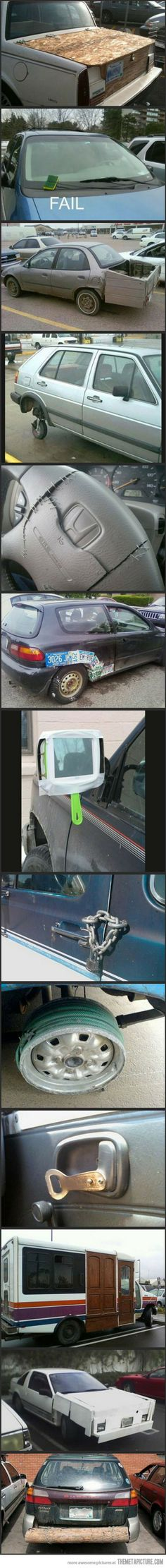 These aren't fails. These are people being pretty damn resourceful. Dang