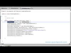 In this video we will explain various feature in Apache CXF. For more  java interview questions and answers video visit us at http://www.questpond.com/java/javaj2eedesignpattern.html