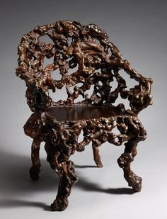 Furniture from roots and driftwood - 18-20 century.